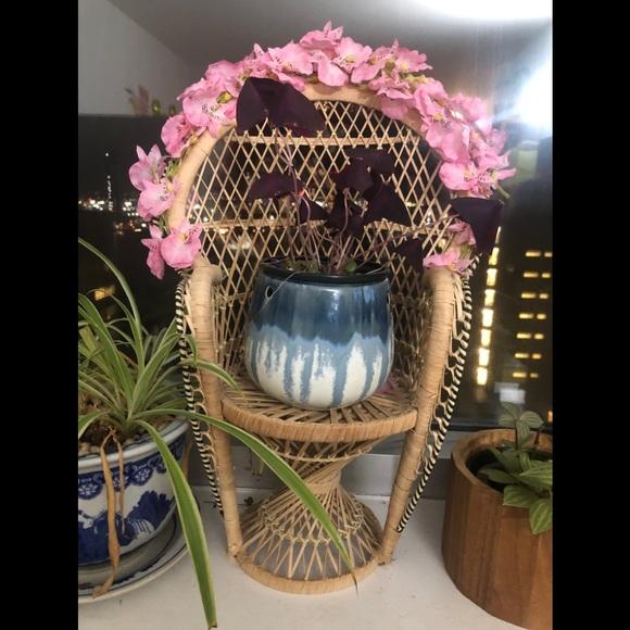 Custom peacock chair planter